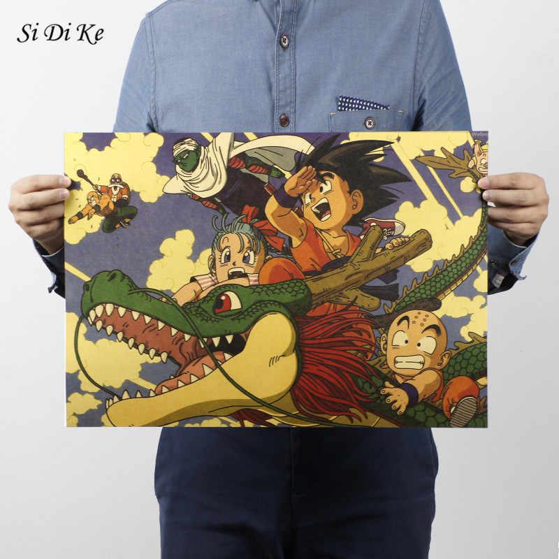 سي دي كه لعبة دراغون بول الكرتون ملصق الفيلم كرافت ورقة الرجعية ملصق جدار ملصقا الزخرفية اللوحة المنزل الديكور