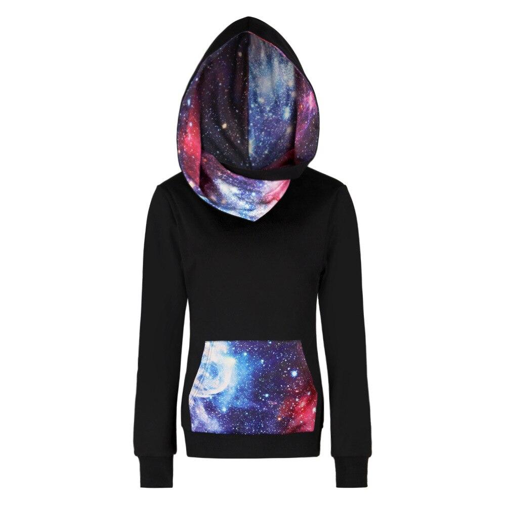 Women Men Space Galaxy 3D Print Hoodie Sweatshirts With Pockets Autumn Couples Outwear Hooded Hoodies Tops Moletom 3XL