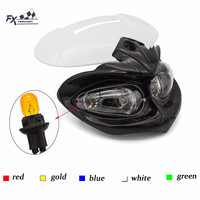 12V 18W Universal Motorcycle Headlights Fairing Dirt Bike Supermoto Headlamp Street Fighter For Yamaha Honda Kawasaki