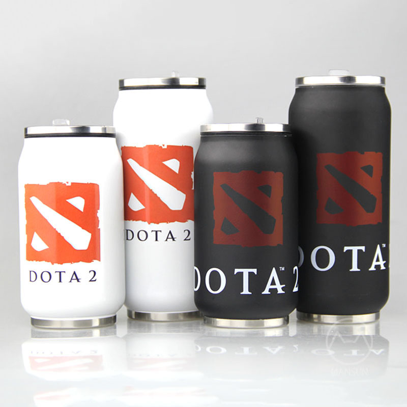 2016 Newest 280mL/400mL DOTA 2 Cans Styling Bunk Stainless Steel Vacuum Mug Travel Mug Creative Gift for Friends Birthday