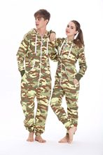 Nordic Way Camo Onesie All In One Hoody Fleece Romper Army Unisex Jumpsuit(China)