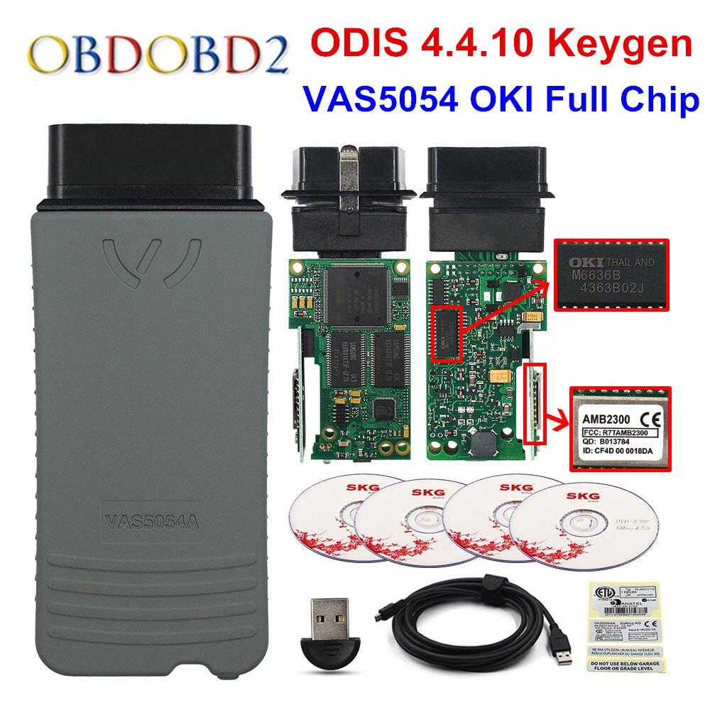 A + + Qualité VAS5054A OKI Plein Puce Keygen VAS5054 D'origine ODIS V4.4.10 AMB2300 VAS 5054A 4.4.1 Soutien UDS Protocole Livraison le bateau