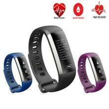 Smart Браслет артериального давления крови кислородом монитор сердечного ритма фитнес-трекер Touchpad спортивные часы браслет для iOS и Android