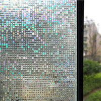 Opaque Privacy Static Cling Glass Window Film Home Decor Small Mosaic Window Sticker Office Bathroom Bedroom