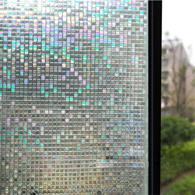 Buy Opaque Privacy Static Cling Glass Window Film Home Decor Small Mosaic