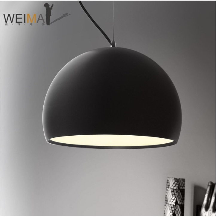 Dome Pendant Wire Hanging Lamps / Matte Finished Metal Shade Pendant ...