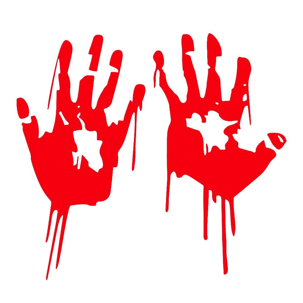 Bloody HandPrint Vinyl Decals Dead Stickers Zombie Walking Funny Halloween Hands