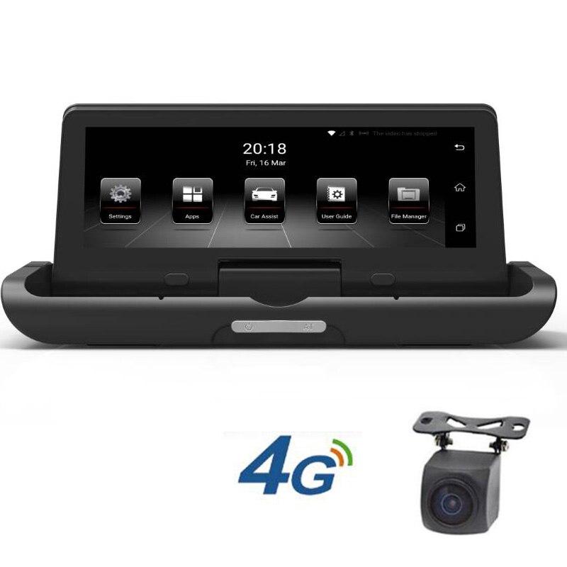 7.84 Écran Tactile Voiture DVR Caméra 4g WiFi ADAS Android 5.1 GPS Dash Cam Greffier Vidéo Enregistreur Une -clé Pliable Affichage