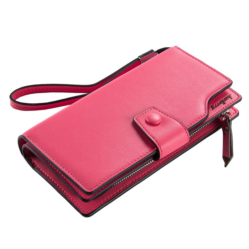 2016 Famous Brand Women Multifunction Clutch Wallets Candy Color Long Purse Card Holder Coin Pocket Lady's Zipper Phone Handbag 2016 famous brand women clutch wallets top leather long coin purses lady card holder candy color hasp zipper girls phone handbag