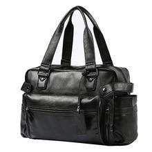 Waterproof Travel Bag Large Men Hand Luggage big Duffle Bags Leather business Handbag Multifunction Shoulder Bolsos