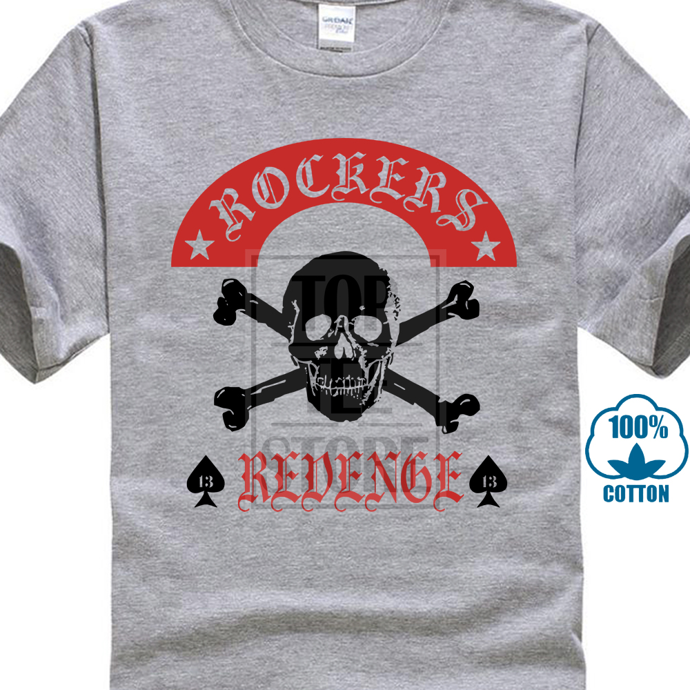 bc886ed68 2017 New Casual Rockers Revenge T Shirt Rock'N'Roll Rockabilly Skull All 3D  Print Men's T Shirts 100% Cotton Short Sleeve Tee-in T-Shirts from Men's ...