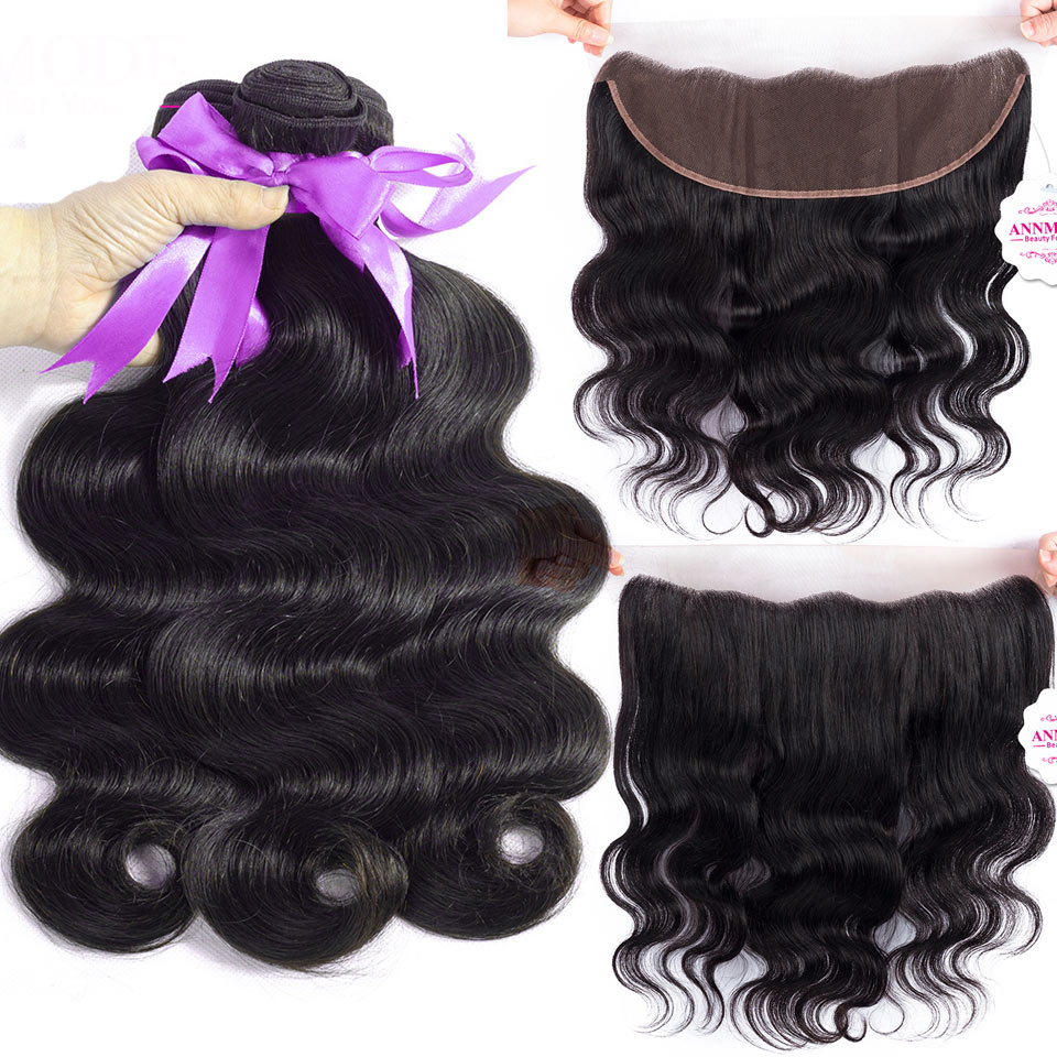 Annmode Body Wave Bundles With Frontal Malaysian Human ...
