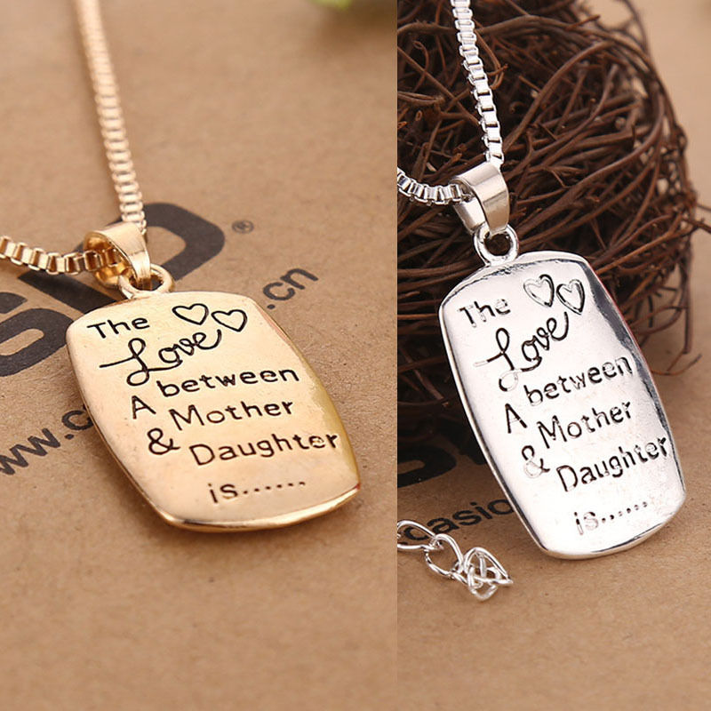 Special Love Mother Daughter Necklace Pendant Present Birthday Gift For Mum