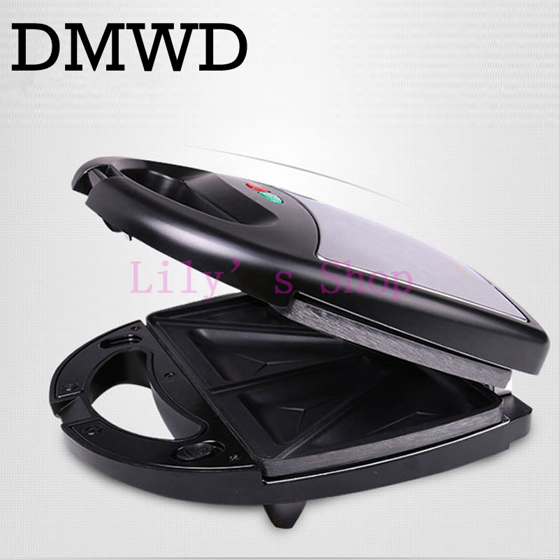 DMWD Electric MINI Waffle Sandwich Maker Grill 3 Changeable Plates Breakfast baking Machine Multifunctional Toaster frying pan edtid multifunctional electric cooker mini heat pan students hot pot without oil fume nonstick frying pan special offer