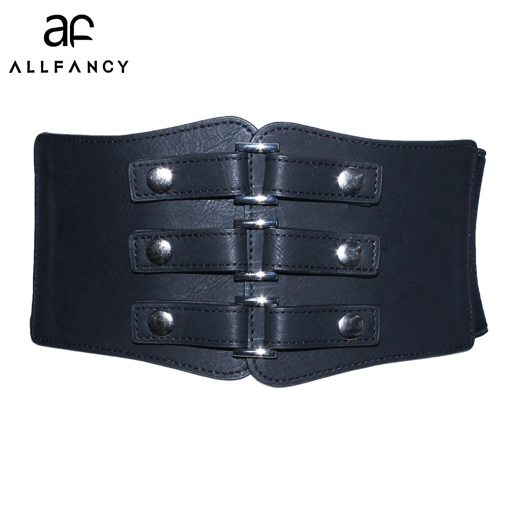 2017 New Women belts 10cm wide elastic Waist sealing girdle leather belt dress with decorative Accessories lady Belt Cummerbunds