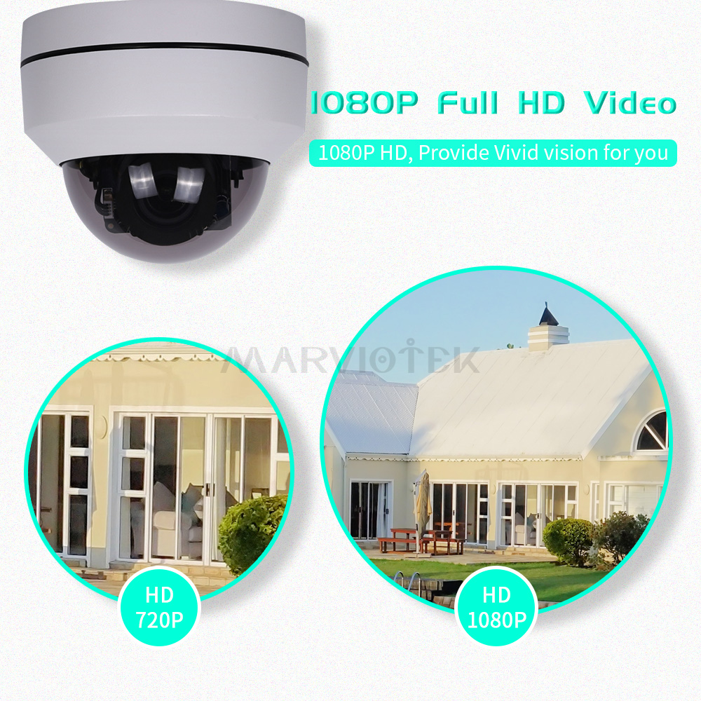 Image 3 - Mini Dome camera HD 5MP 4X Optical Zoom Night Vision Mini PTZ Camera IP 1080P P2P Dome IP Camera Outdoor Waterproof ONVIF Ipcam-in Surveillance Cameras from Security & Protection