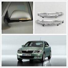 2 шт. светодиодный зеркальный светильник для Skoda Octavia A5 A6 2009 2010 2011 2012 2013 Автомобильное зеркало заднего вида светодиодный индикатор сигнала поворота светильник