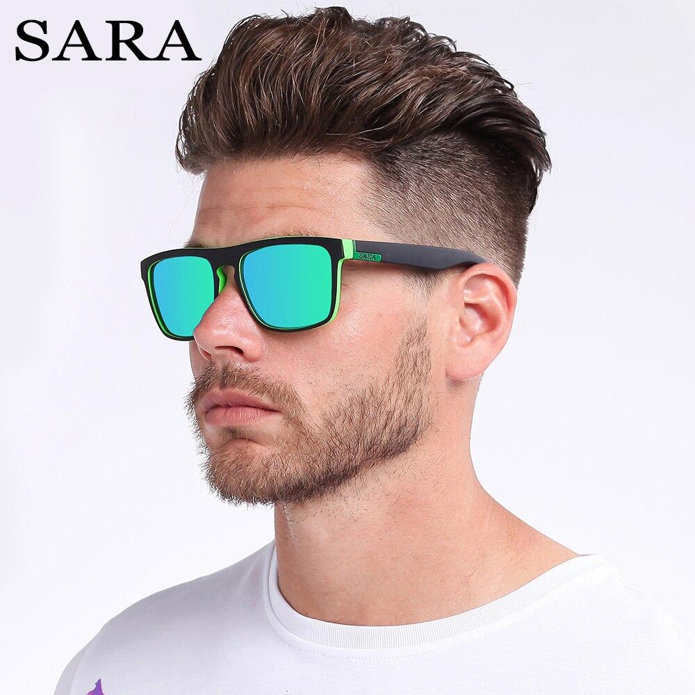 SARA Mode Polarisierte Männlichen Sonne Gläser Für Männer Shades Sonnenbrille Männer Frauen Outdoor Sport Klassische UV400 Linsen Spiegel Mit Box
