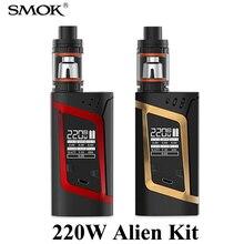 Vape Electronic Cigarette Vaporizer Electronic Hookah Pen SMOK Alien Kit 220W E cigarette Box Mod Kit for TFV8 Baby Tank X1082