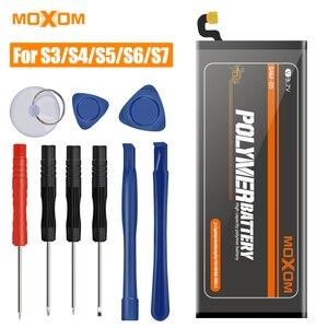 Оригинальный аккумулятор MOXOM для Samsung Galaxy S3 S4 S5 S6 S7, i9300 i9500 G900, сменная батарея с реальной емкостью, с возможностью использования в режиме реал...