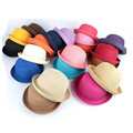 2016 Summer Baby Sun Hats Brand Straw Caps Soild Beach Lovely Girl Sun Dress Caps Children Beanies For Toddlers