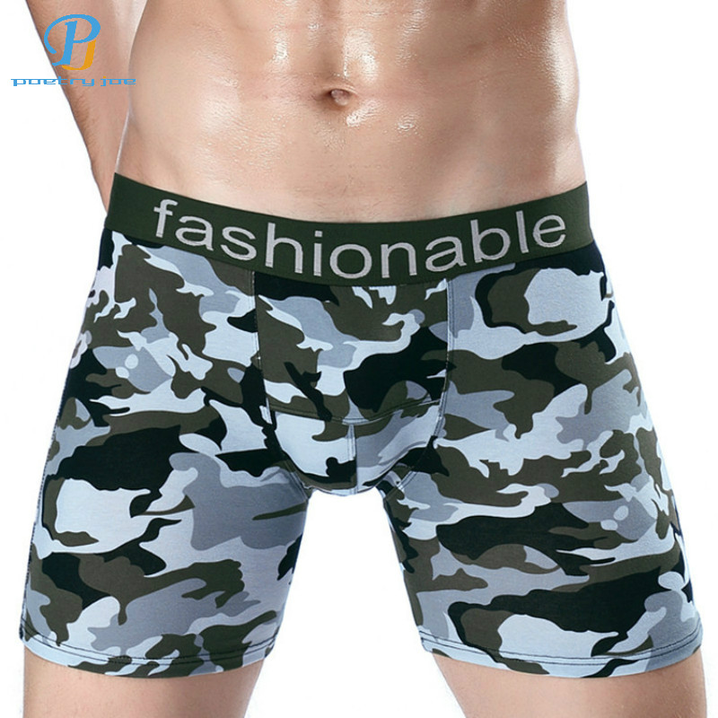 Men's Underwear Impartial Men Underwear Boxer Lengthened Cotton Anti-wear Leg Underwear Flat Pants Camouflage Pants Boxers Shorts Panties Brand And To Have A Long Life. Underwear & Sleepwears