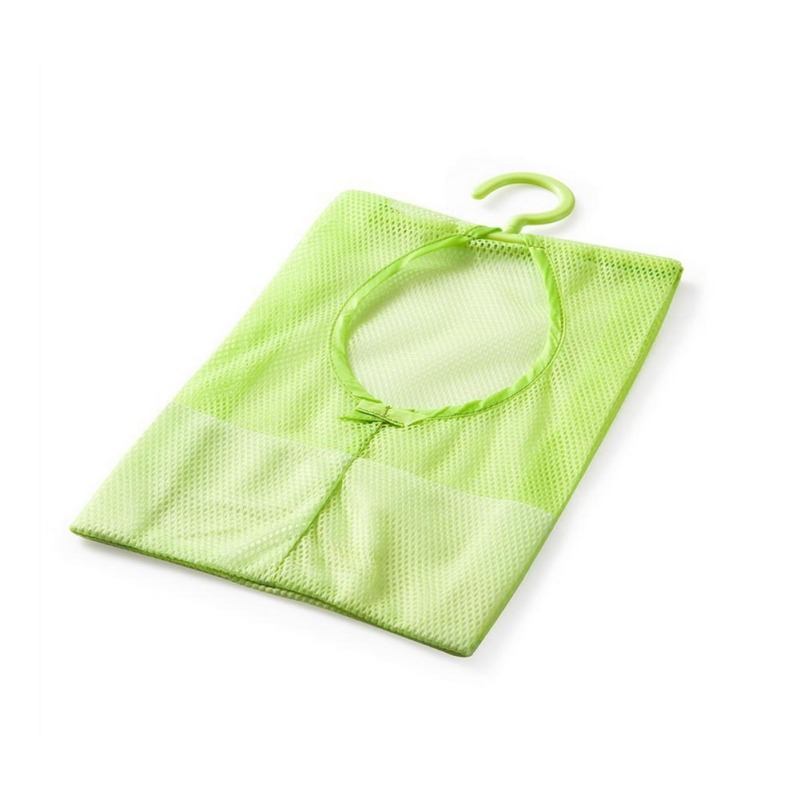 Hanging Mesh Storage Bag Clothes Toy Organizer Laundry Hook Underwear Kitchen Bathroom Storage Bag Baskets Practical Pouch AA