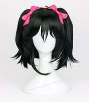 LoveLive! Nico Yazawa Wig Love Live Cosplay Wigs + 2 Bow Hairpins>>>girls Cosplay wig Free shipping