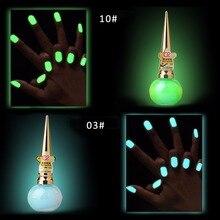 Светится в темноте Краска Лак для ногтей на Хэллоуин дизайн ногтей Декоративный гель Штамповка ногтей флуоресцентный Светящийся лак для ногтей