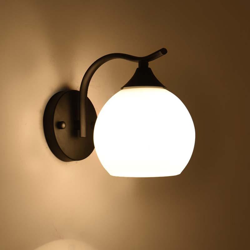 BOKT LED Wall Lights Glass Ball Modern Wall Lamp AC110V AC220V Indoor Wall Lighting For Bedroom Living Corridor in Wall Lamps from Lights Lighting