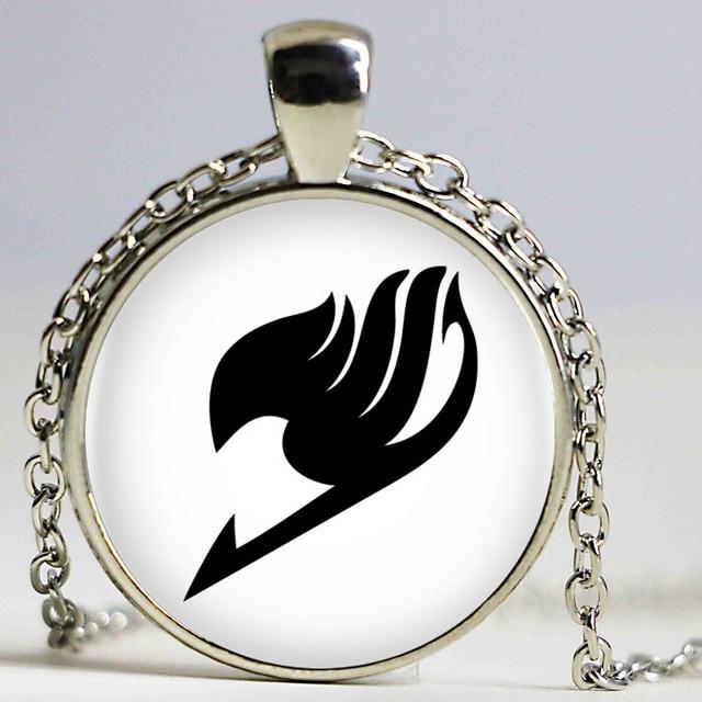 Fairy Tail Glass Pendant Necklace (8 colors)