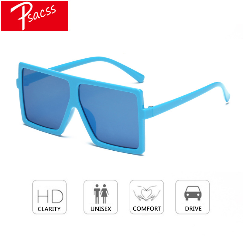 Psacss Kids Square Cute Sunglasses Boy/Girls Brand Designer Sunglass Children's Rainbow Color Sun Glasses Oculos De Sol Shades