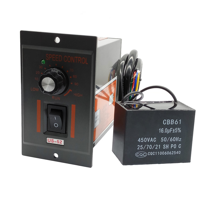US-52 220V 400W Ac Speed Controller Forword Backword With Filter Capacitor Ac Regulator Motor Control 5W 60W 250W 300W