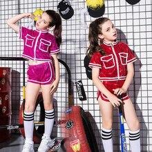 jazz dance costumes gerls hip hop dancing clothers children street hip-hop kids sequin