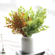 Artificial Leaves Plant Lifelike Plastic Persian Grass Lysimachia Fern Floral Green Wall Decoration 1pc
