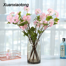 Xuanxiaotong 10pcs/set Snowball Silk Flowers Artificial for Home Christmas Decor Wedding Road Cited Decoration