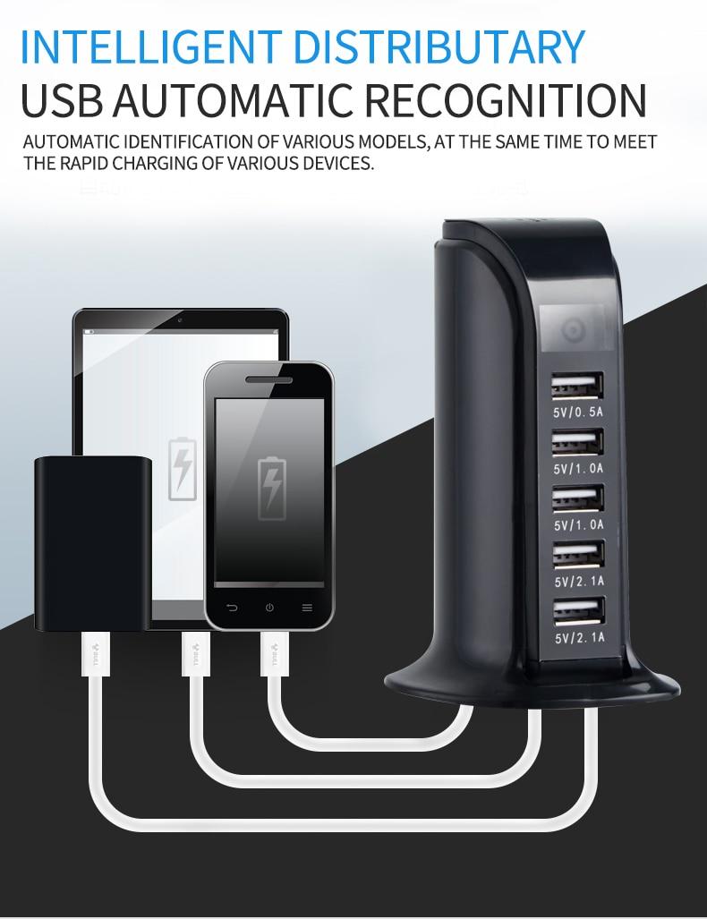 1080P Wifi Mini kamera 5 Port 4A ładowarka USB stojąca
