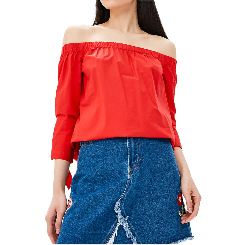 Blouses & Shirts MODIS M181W00816 women blouse shirt  clothes apparel for female TmallFS