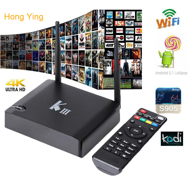 ФОТО Newest KIII Amlogic S905 K3 Android 5.1 Quad Core Tv Box 2GB/16GB 2.4G/5GHz Dual WIFI BT4.0 Gigabit LAN 4K H.265 Media Player