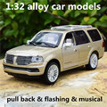 1:32 alloy car models,high simulation Lincoln Navigator toy vehicles,metal diecasts,pull back & flashing & musical,free shipping