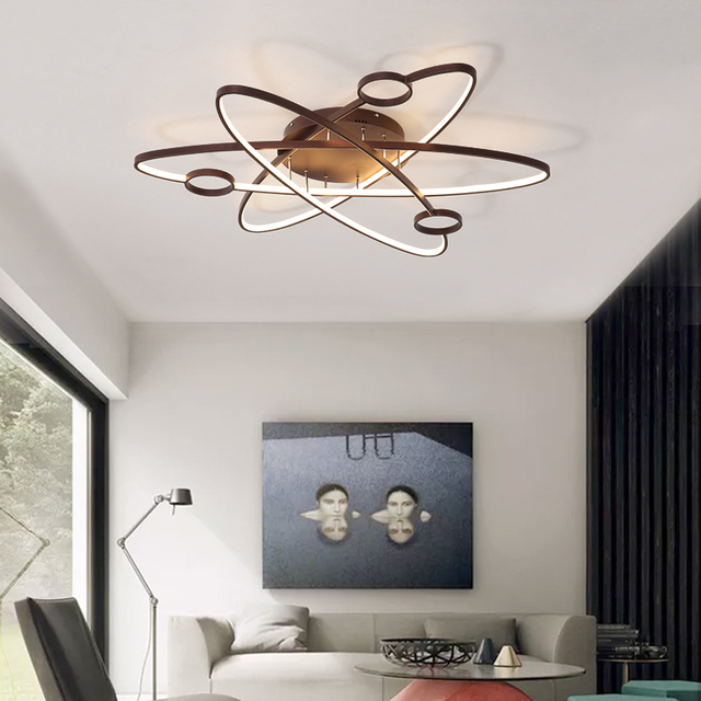 Chandelierrec Modern Kid S Room Led Chandeliers Lights Into Low Ceilings Ac90 260v Ceiling For Living Bedroom