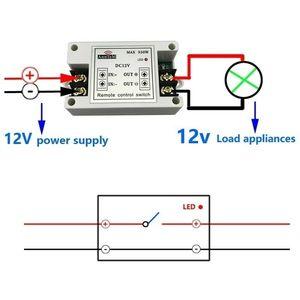 Image 2 - ワイヤレスリモートコントロールスイッチ 433 433mhz の rf 送信受信機 12 v ユニバーサルバッテリ電源回路コントローラ車 led ストリップライト