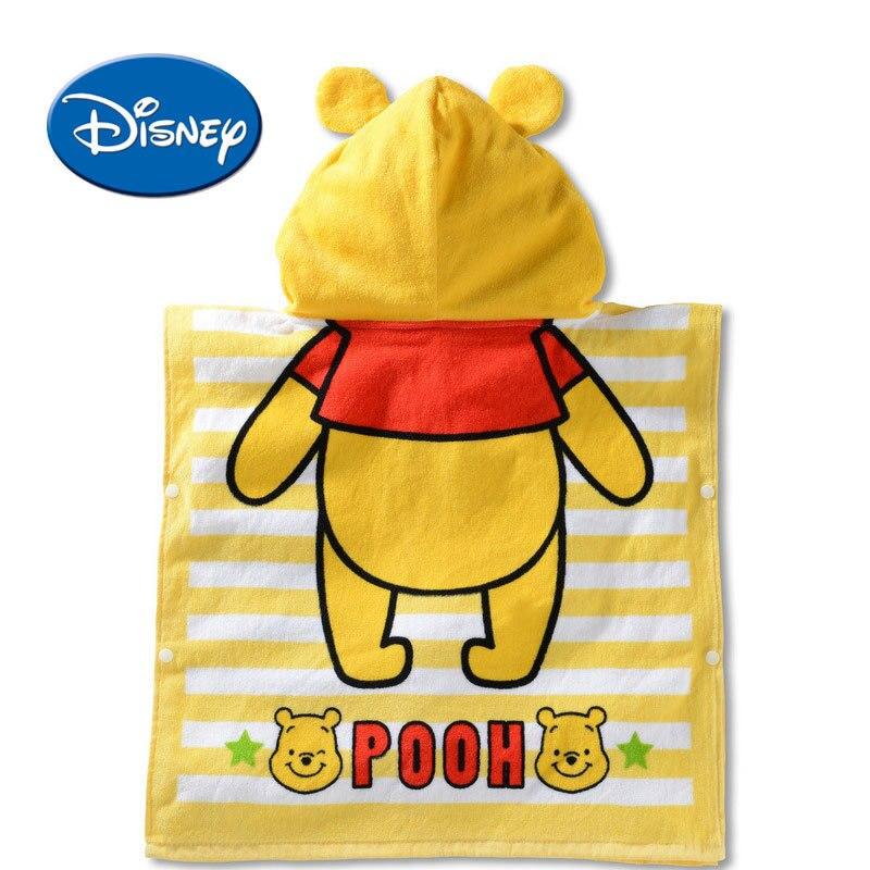 Disney Mickey Minnie Donald Daisy Winnie Capuz Toalha Crianças Dos Desenhos Animados Toalha de Banho Do Bebê Roupão de banho de Algodão Macio Respirável