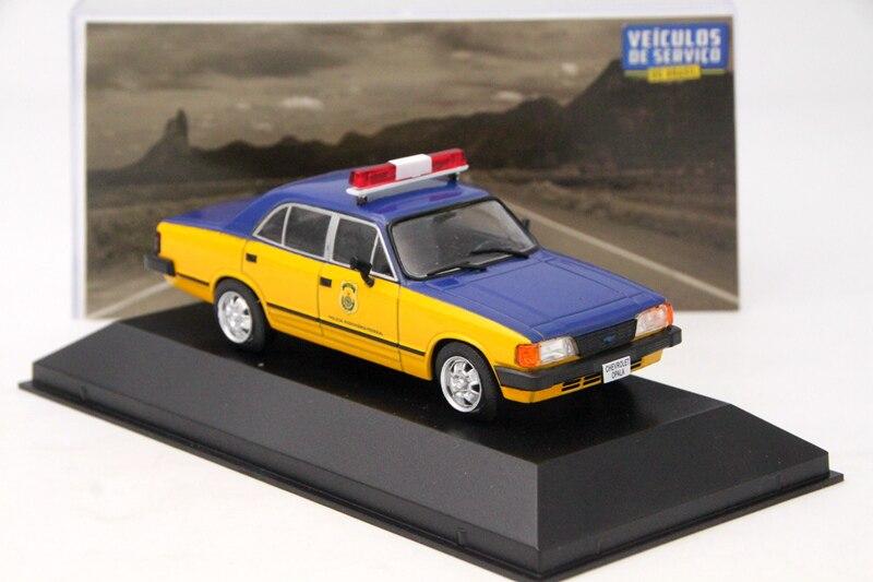 Altaya ixo 1:43 para chevrolet opala policia rodoviaria federal brinquedos carro diecast modelos presentes coleção