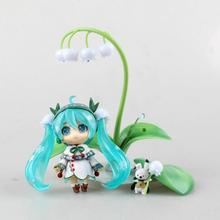 Hot Sale Vocaloid Idol Hatsune Miku Nendoroid 493 # Snow Miku : Snow Bell Version Action Figure Toys(China)