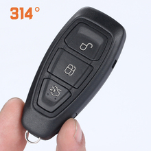 купить 3 Button Black Car Smart Card Remote Control Key Shell Replacement Key Suit For New Ford Focus/Mondeo/Winning/Wing Tiger/Wing Bo дешево