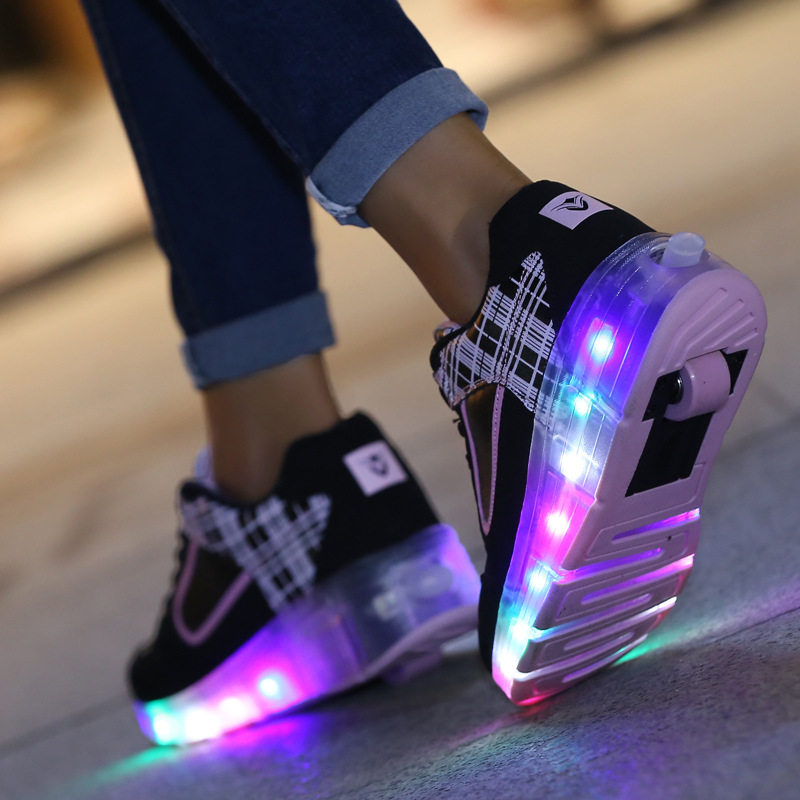 Usb casual girls with luminous sneakers shoes children kids led boys glowing sneakers sport shoes