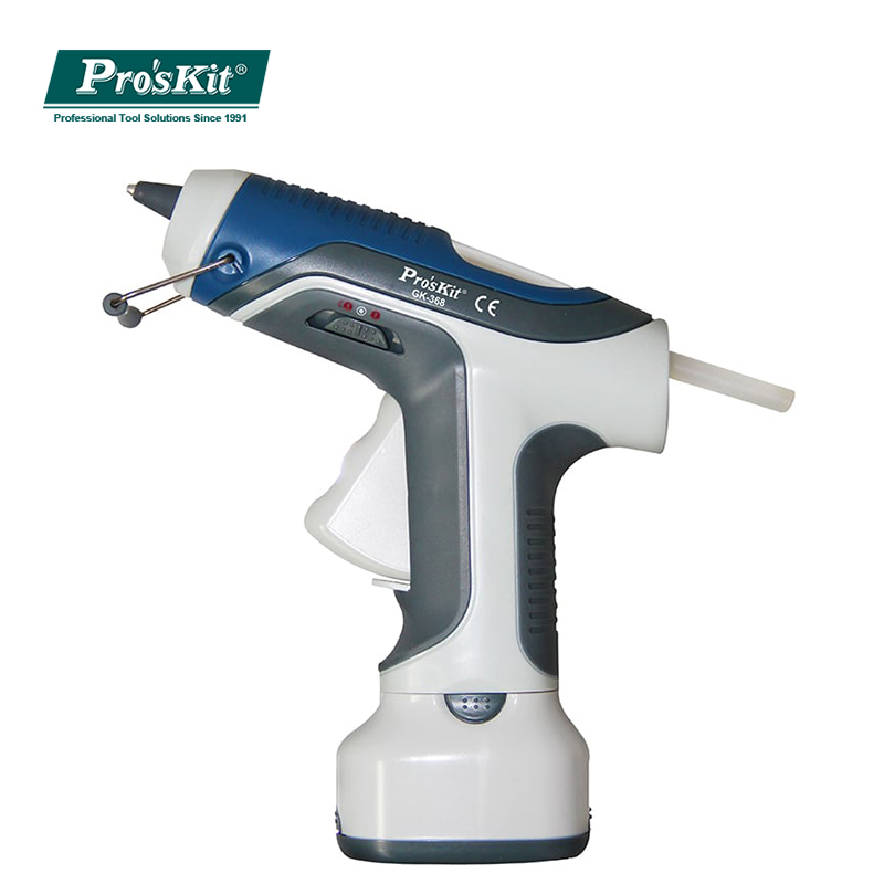 Pro'sKit GK 368 7W/6V Battery Operated Cordless Hot Melt Glue Gun For DIY with 7mm Glue Sticks