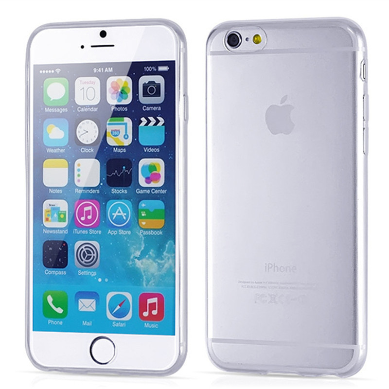 Crystal Clear Transparent Soft Silicon 0.3mm TPU Case for iPhone 6 6s / 6 6s plus /5 5s/ 4 4s