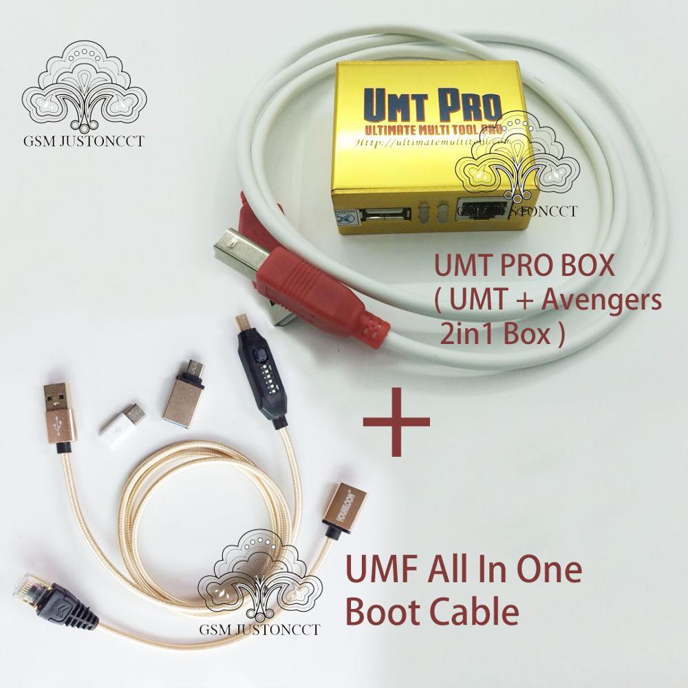 2019 date 100% d'origine UMT Pro boîte UMT + Avengers 2in1 boîte avec 1 câbles USB + tous les câbles de démarrage